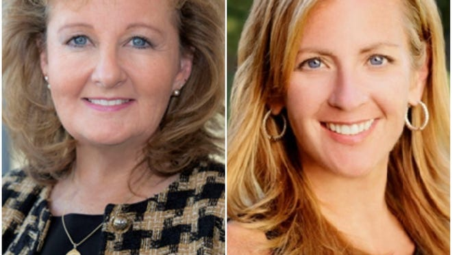 Kathleen Matt (left), dean of University of Delaware's College of Health Sciences, and Courtney Smith Goodrich, a global technology chief strategy and programs officer for JP Morgan Chase, will be the featured speakers at this year's Inspiring Women in STEM Conference.
