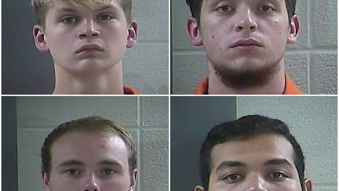 19-year-olds Tristan Shay Oakley, Marty Austin Phillips, Calvin Wesley Baker, and Jerricho Taylor Asher are accused or raping an underage girl.