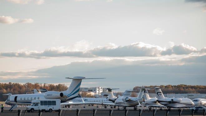 Teterboro Airport last Wednesday.