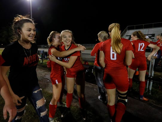 The North Fort Myers girls soccer team defeated Mariner