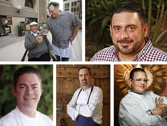 (Top L-R): Chefs Chris Bianco and Gio Osso. (Bottom