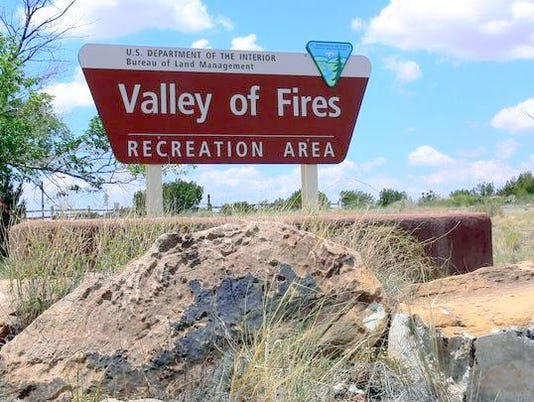 valley of fires sign