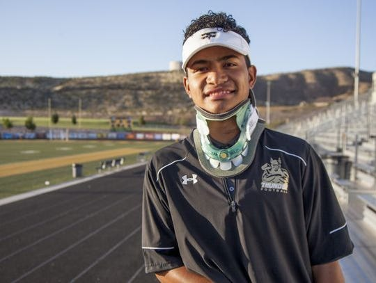 Nephi Sewell missed his junior season of high school