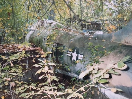 """This is the """"before"""" photo of a F-84F aircraft formerly"""