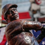 Created by artist Tom Tsuchiya, a Tony Perez statue now stands outside the Great American Ball Park.