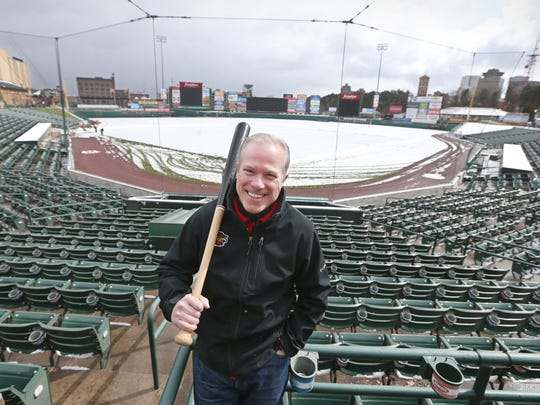 """What other entrée can claim it is synonymous with a sport like a hot dog is with baseball?"" says DanMason, general manager of the Rochester Red Wings."