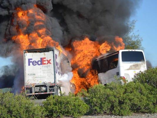 APTOPIX California Bus Crash