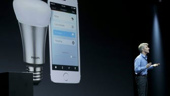 Apple's Craig Federighi touts Apple's HomeKit -- its communication platform for connected devices -- at last year's developers conference.