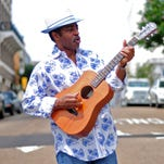 Hattiesburg musician Vasti Jackson poses for a portrait in downtown Hattiesburg.