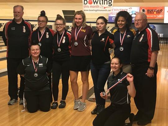 The Eastern Cincinnati Conference girls bowling team