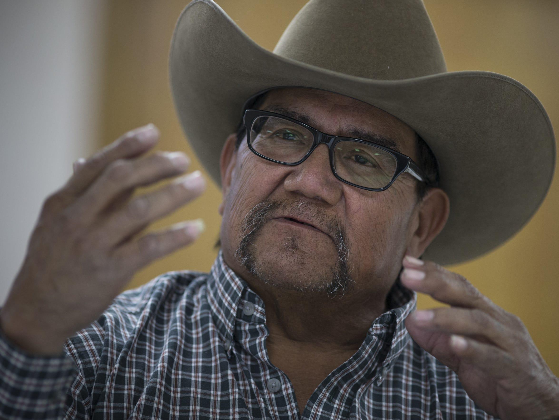 Lewis Pavinyama, a retired mine supervisor, speaks