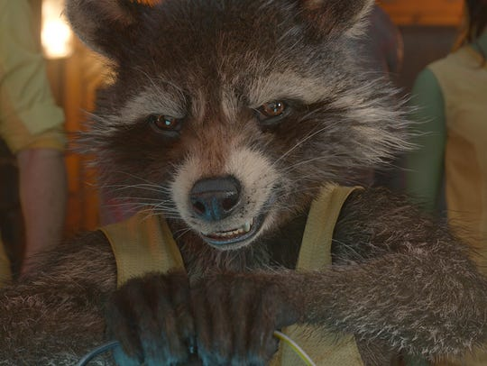 Rocket Raccoon (voiced by Bradley Cooper) had to be