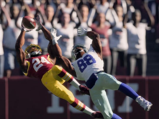"Gameplay footage from ""Madden NFL 18."""