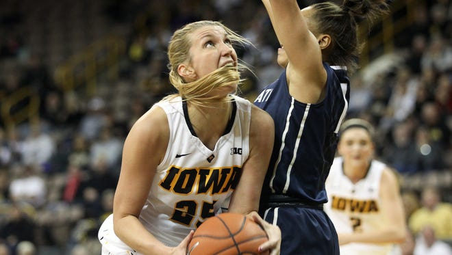 Kali Peschel is one of three Iowa players who will be celebrating their senior day on Saturday.