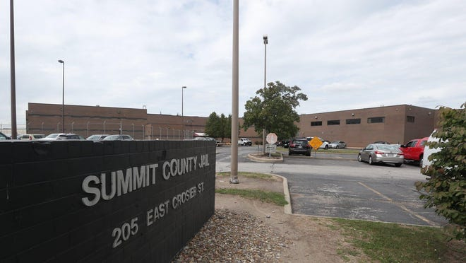 A new roof is planned for the Summit County Jail on East Crosier Street in Akron.