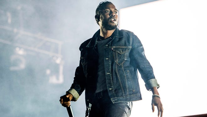Kendrick Lamar performs during the Festival d'ete de Quebec on Friday, July 7, 2017, in Quebec City, Canada. (Photo by Amy Harris/Invision/AP)