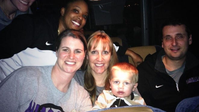 Hartland's Kendra Faustin, the women's basketball coach at Niagra, and her team were stuck on a bus for nearly 30 hours.