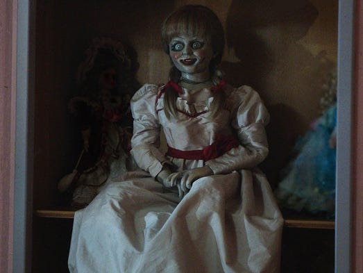 The possessed doll in 'Annabelle.'