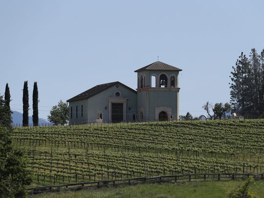Former owner Anselmo Vineyards owner Reverge Anselmo built a chapel that overlooks the property. The chapel is one of the buildings that still needs to be permitted.