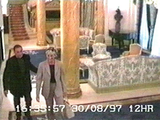 Diana and Dodi were captured on security footage entering