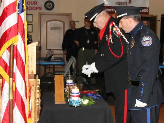 The Elks Lodge sponsored a tribute to fallen officers on Wednesday.