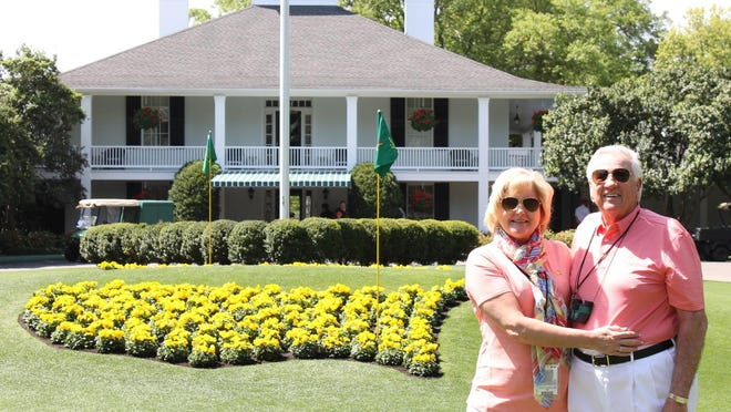 Victor Cross and his wife, Cindy, at the 2018 Masters Tournament. Cross has been attending the Masters since the late 1950s and has been a badge holder since 1995. While he's disappointed in Augusta National's decision to hold the tournament without patrons this year, he believes it was the right call.