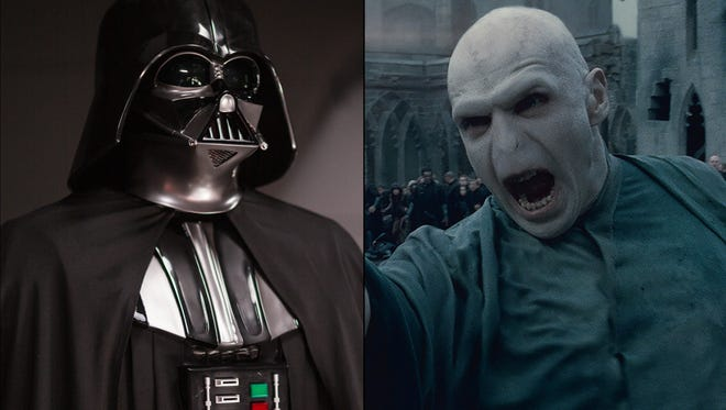 Darth Vader and Voldemort are both No. 1 seeds in the USA TODAY Greatest Villains tournament bracket.