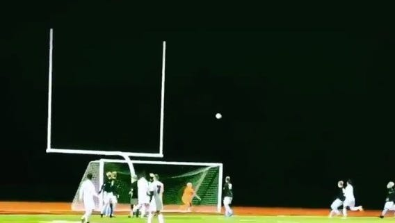The sinking, 25-yard free kick that Nick Simone curled inside the far post was featured as No. 7 on ESPN SportsCenter's Top 10 Plays of the Night for Wednesday.