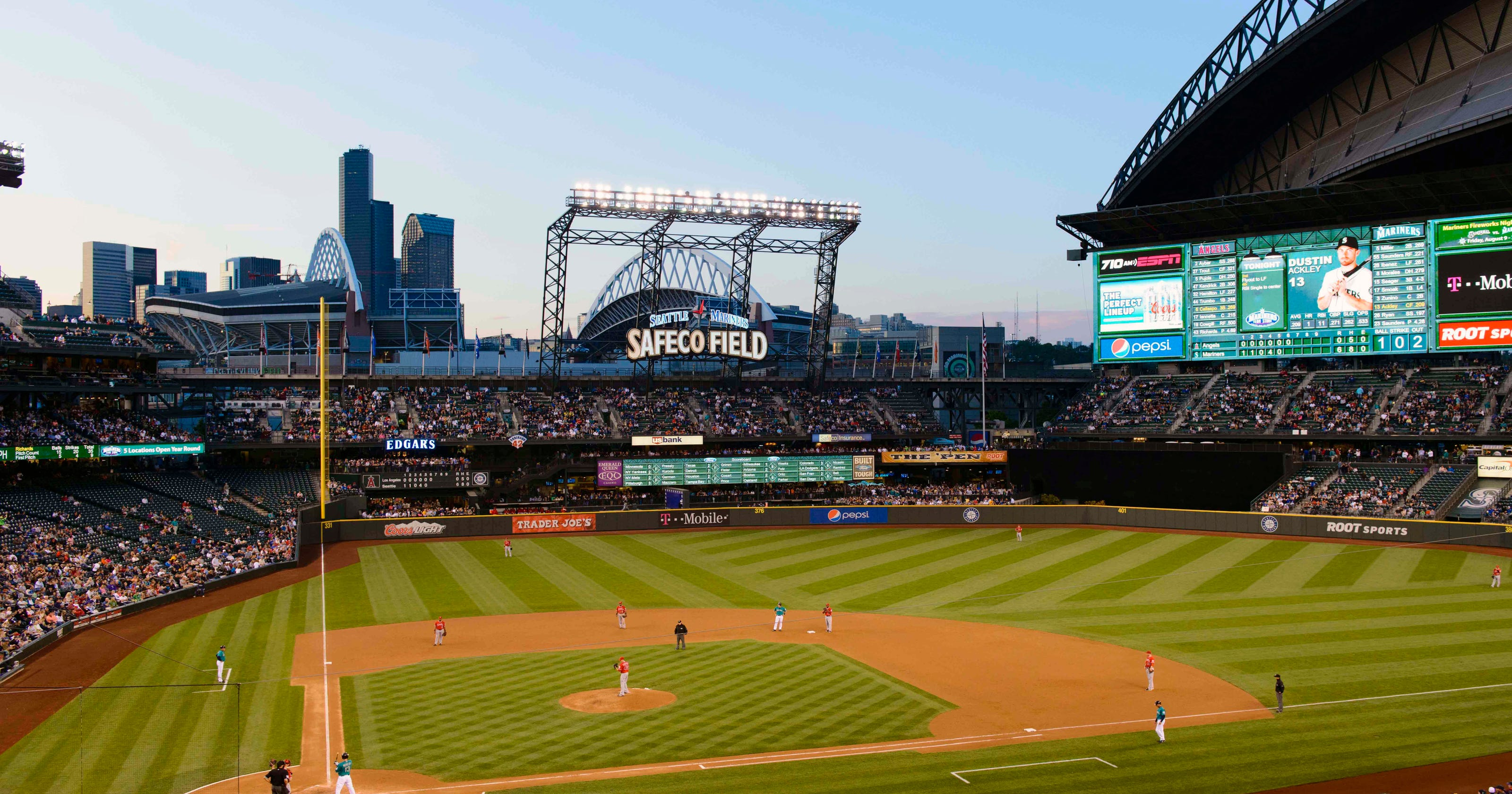 Stadium Countdown Safeco Shines Inside And Out