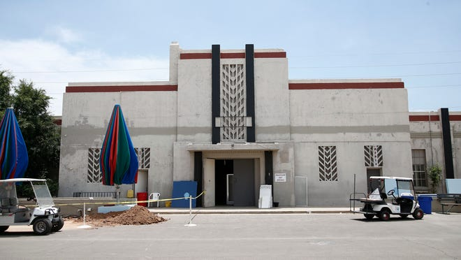 This historic building at the Arizona State Fair Grounds is scheduled to be razed July 16, 2014, in Phoenix. The art deco building dates back to 1938 and was constructed by the federal government as part of a New Deal-era program to lower unemployment during the Great Depression.