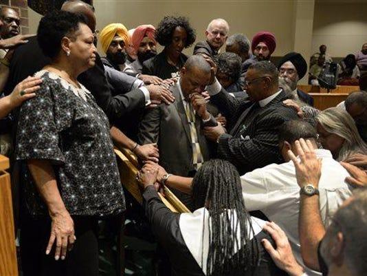 Prayer Vigil for Church Shooting Victims