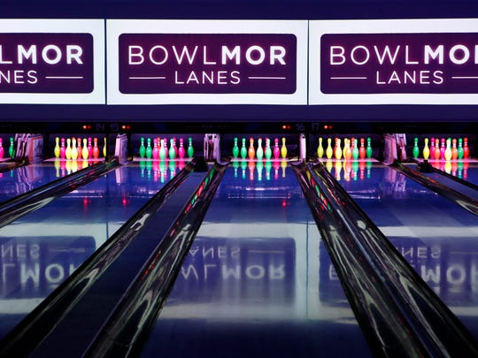 The downstairs lanes at Bowlmor Lanes is photographed March 12, 2015 in White Plains. The lanes open to the public on March 26th.