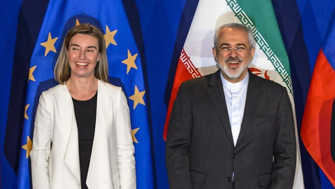 EU foreign policy chief Federica Mogherini and Iranian Foreign Minister Mohammad Javad Zarif.
