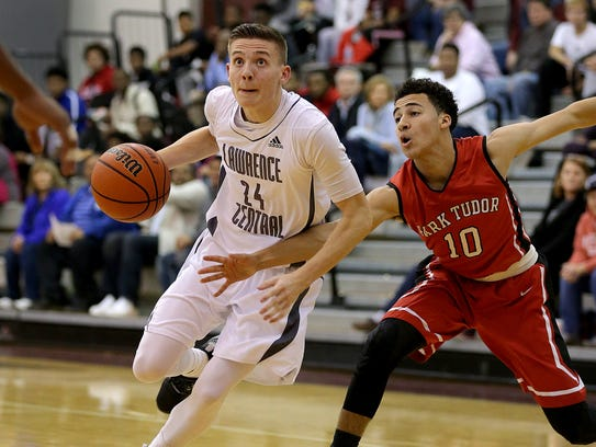 Lawrence Central's Kyle Guy (left)