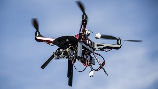 This drone is used to take aerial photos for a California real estate business.