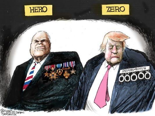 NO. 3: John McCain vs. Donald Trump
