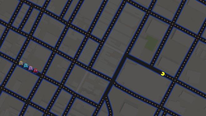 Pac-Man takes a stroll down Wilmington.