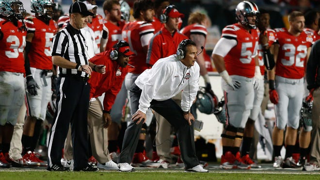 Ohio State Buckeyes head coach Urban Meyer during the first half of the 2014 Orange Bowl.