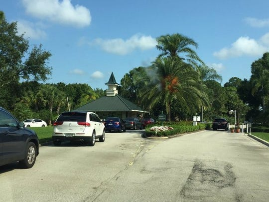 The entrance gate of PGA Village in Port St. Lucie.