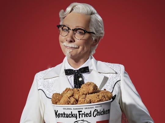 Singer Reba McEntire appears as KFC's Col. Sanders