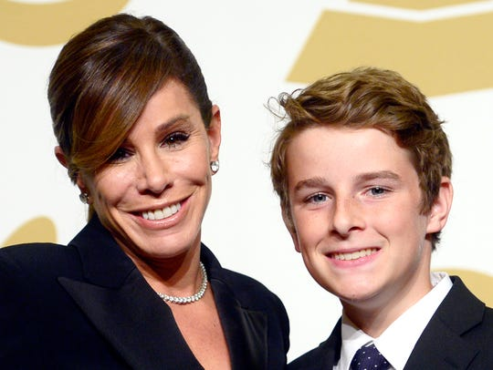 Melissa Rivers and son Cooper Endicott collect Grammy