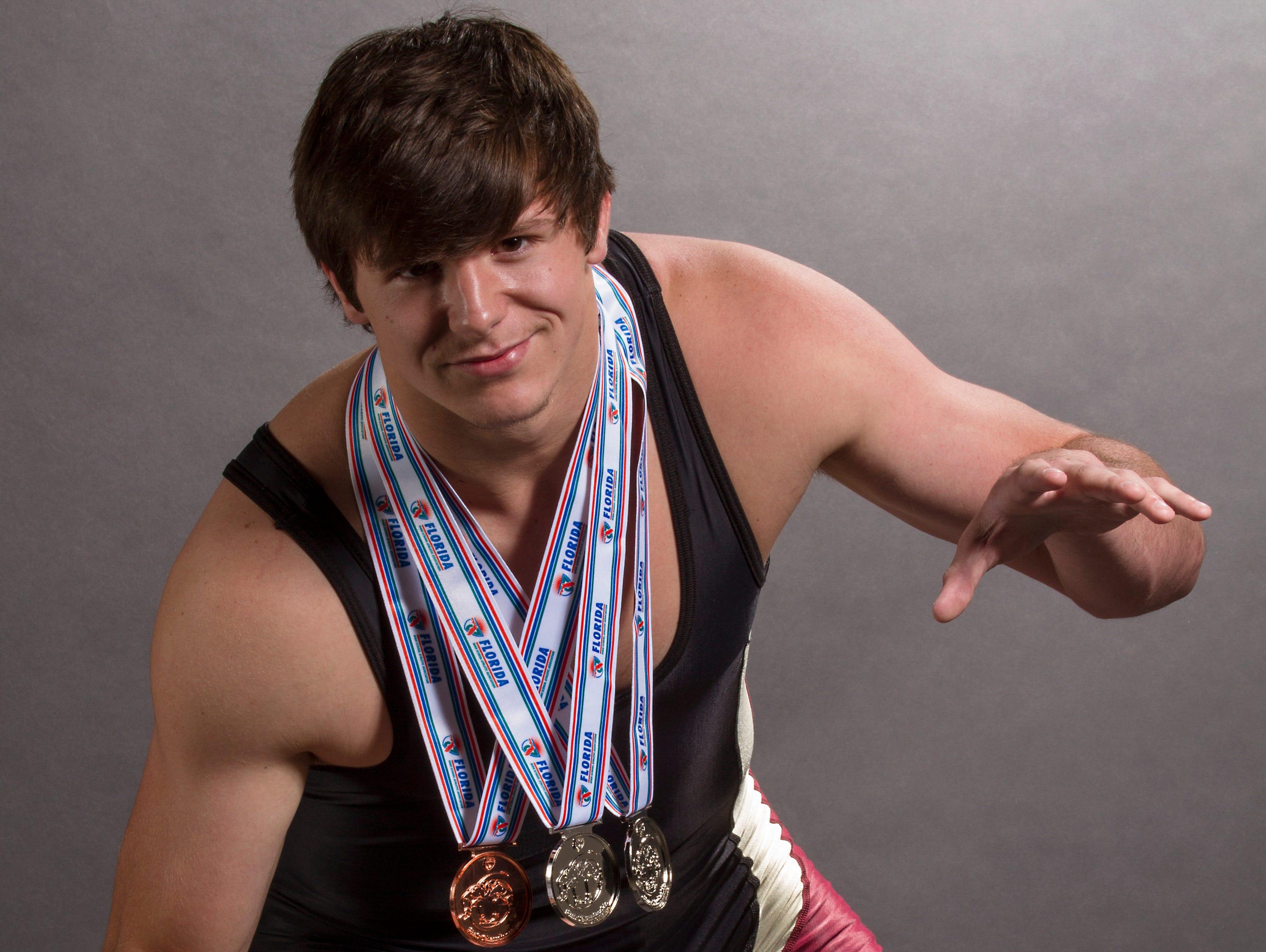 Jesse Pryor, 17, is a senior wrestler at Riverdale High School.