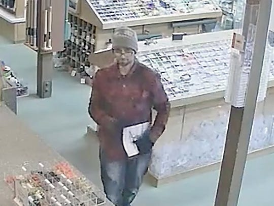 Surveillance video at The Fly Shop in Redding captured this image of one of two thieves in Thursday morning's burglary.