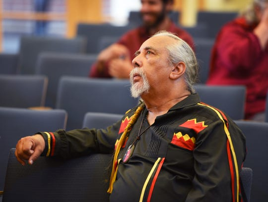 Ramapough leader Chief Dwaine Perry in Mahwah municipal