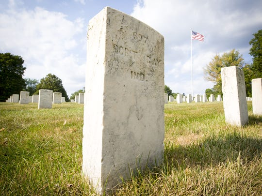 The grave marker of Robert Gay in Crown Hill Cemetery.