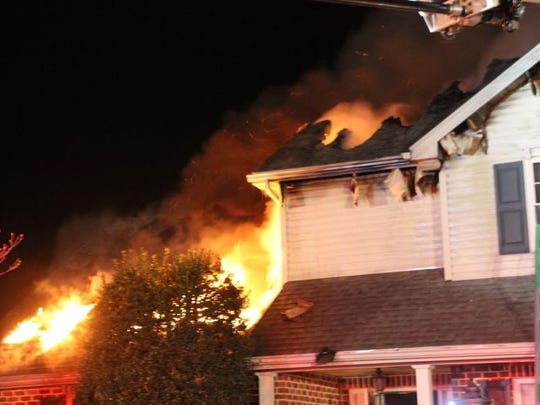 Flames rip through a home on Bell Avenue in Hamilton