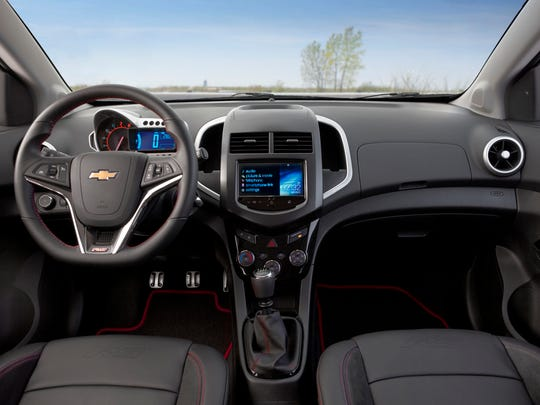 Inside the 2015 Chevy Sonic RS, interiors look good and are also loaded with technology, according to automotive journalist Casey Williams. Chevy MyLink utilizes smartphone apps to control music, navigation and more. The 2015 model is also available with a 4G LTE Wi-Fi hotspot.