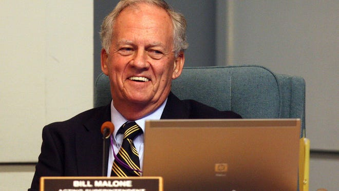 Bill Malone, pictured in 2011, spent 18 years as a high-level executive at two of the region's most vital and largest government agencies: the South Florida Water Management District and the Palm Beach County School District.