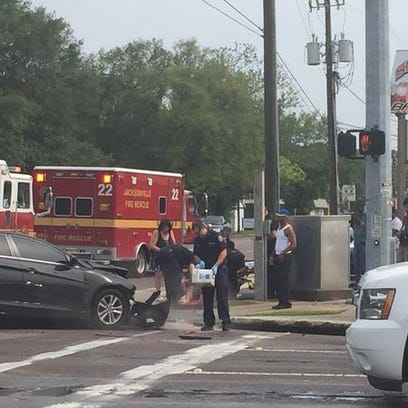 JSO on the scene of an accident with injuries on Cassat