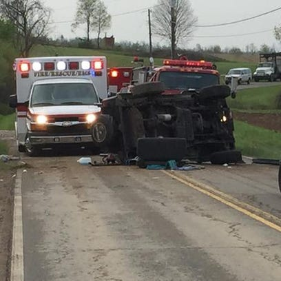 A crash was reported shortly after 8:45 a.m. Tuesday